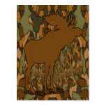 Moose Camouflage Gifts and Invitations Post Cards