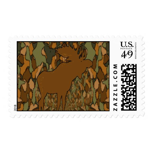 Moose Camouflage Gifts and Invitations Postage