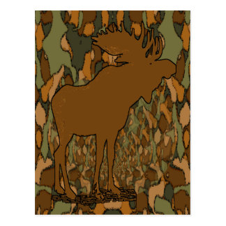 Moose Camouflage Gifts and Invitations Postcard