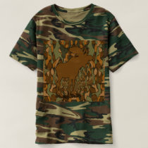 Moose Camouflage Gifts and Invitations T-shirt