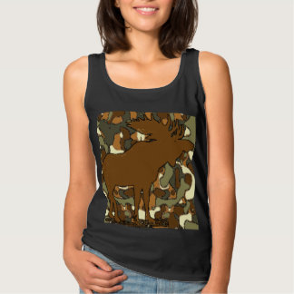 Moose Camouflage Gifts Tank Top