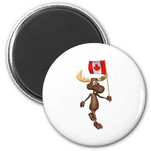 Moose Canada 2 Inch Round Magnet