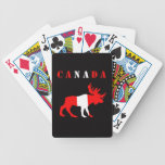 moose canada bicycle card deck