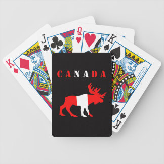 moose canada bicycle playing cards