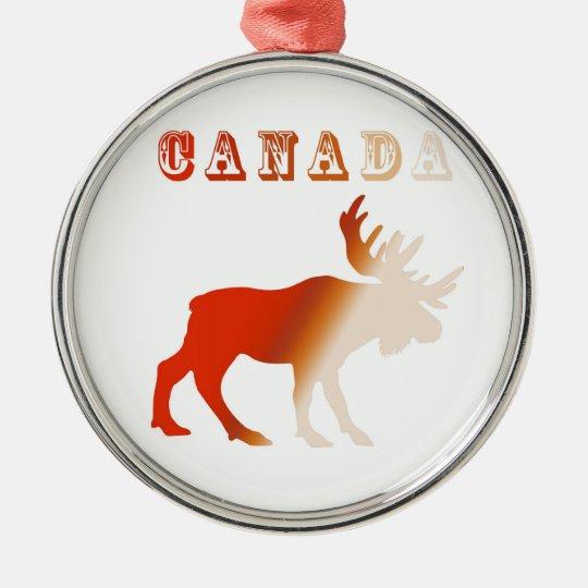 moose canada metal ornament