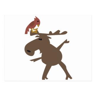 Moose & Cardinal Postcards