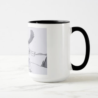 Moose Caught In A Clothesline Full Of Laundry Mug