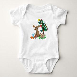 Moose Christmas baby shirt