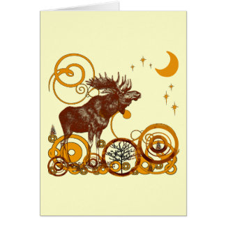 Moose Christmas Greeting Card