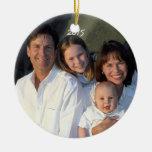 Moose Christmas Family Photo Vintage Christmas Tree Ornaments