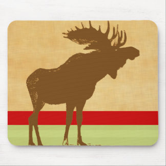 Moose Christmas Mouse Pad