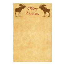 Moose Christmas Stationery