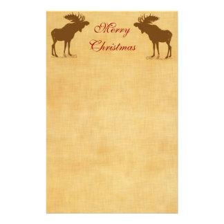 Moose Christmas Stationery