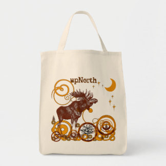 Moose Ciuntry Organic Reusable Shopping Gift Bag