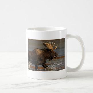 moose classic white coffee mug