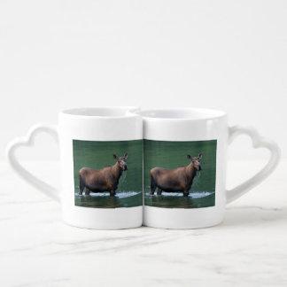 moose coffee mug set