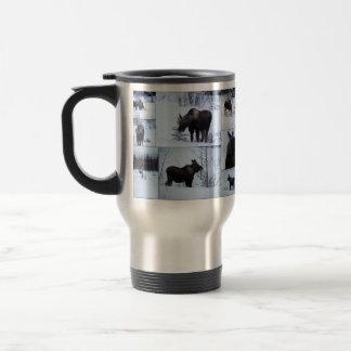 Moose Collage; No Text Travel Mug