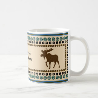 Moose Collection Classic White Coffee Mug