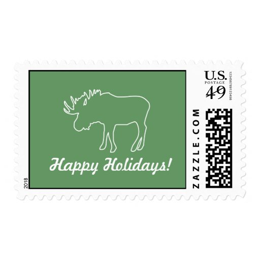 Moose Collection | Happy Holidays | Postage