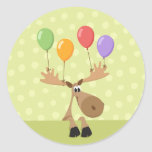 Moose colorful balloons envelope seal/label stickers