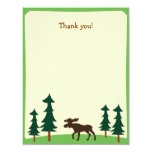 Moose Country Woodland Flat Thank you note 4.25x5.5 Paper Invitation Card
