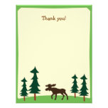 Moose Country Woodland Flat Thank you note Personalized Invitation
