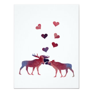 Moose Couple Card