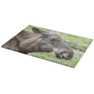 Moose Cow Profile Shot Cutting Board