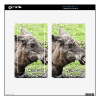Moose Cow Profile Shot Kindle Fire Skin