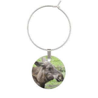 Moose Cow Profile Shot Wine Charm