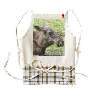 Moose Cow Profile Shot Zazzle HEART Apron