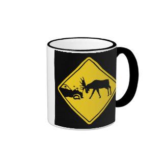Moose Crossing Ringer Coffee Mug