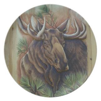 Moose Decorative Plate