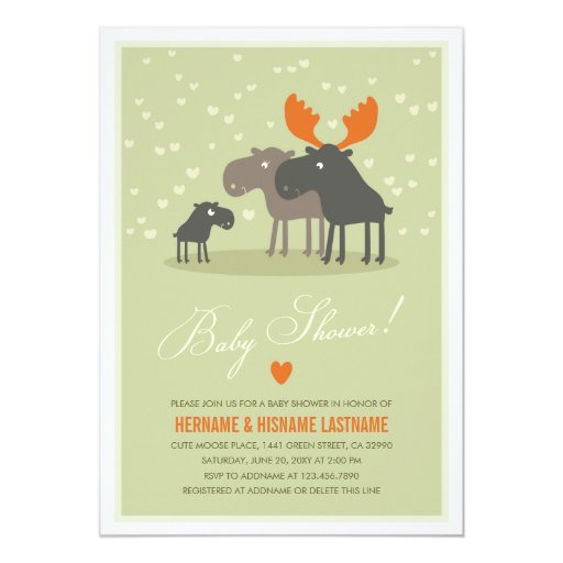 moose deer family couples baby shower invitation zazzle