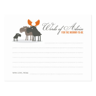Moose Deer Family Words of Advice Mommy Postcard
