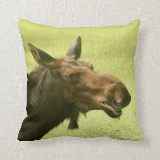 Moose Did Someone Say Cake Pillow