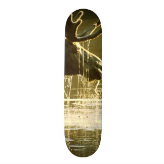 Moose Dipping His Head Into Water Skateboard Deck