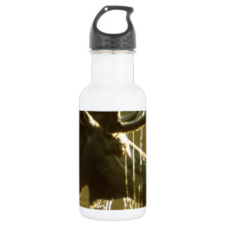 Moose Dipping His Head Into Water Stainless Steel Water Bottle