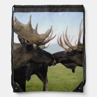 Moose Drawstring Bag