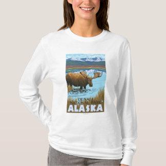 Moose Drinking at Lake - Denali National Park, T-Shirt