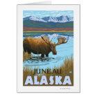 Moose Drinking at Lake - Juneau, Alaska Card