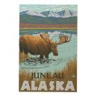 Moose Drinking at Lake - Juneau, Alaska Wood Wall Decor