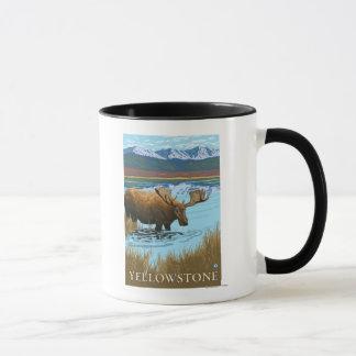 Moose Drinking at Lake - Yellowstone National Mug