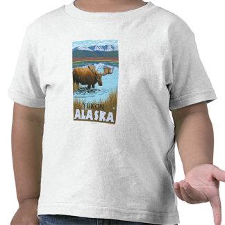 Moose Drinking at Lake - Yukon, Alaska Shirts