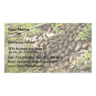 Moose droppings business card