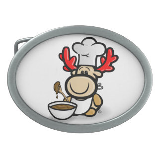 Moose Elmondo with the cake bake Belt Buckles