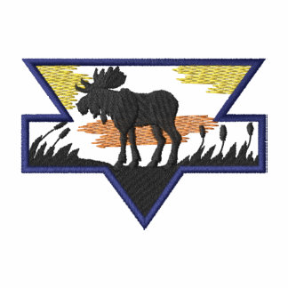 Moose Embroidered Hoodie