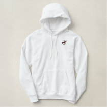 Moose Embroidered Hoodie