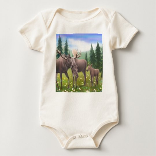 Moose Family Infant Creeper