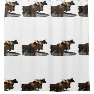 Moose & Female Shower Curtain